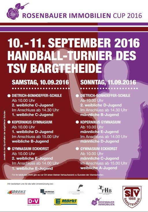 Rosenbauer Immobilien Cup 2016 - Handball-Bargteheide